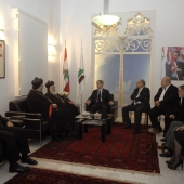 Photo 99 of 110 - Former Pr.Amine Gemayel meets Bishop George Saliba with a Delegation. Wednesday, May 08, 2013