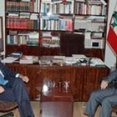 Photo 33 of 56 - Former President Gemayel meets with Italian Ambassador 24092007
