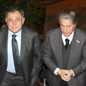 Photo 71 of 110 - President Fouad Siniora and President Amine Gemayel at Bikfaya 26022013