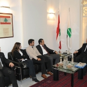 Photo 77 of 152 - Fomer Pr.Amine Gemayel Meets a Delegation From The Lebanese