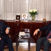 Photo 97 of 152 - Fomrer Pr.Amine Gemayel meets Italian Ambassador.