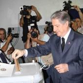 Photo 101 of 152 - Former Pr.Amine Gemayel Casts His Vote in Bekfaya
