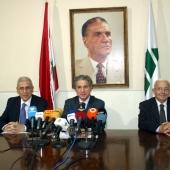 Photo 105 of 152 - Former Pr.Amine Gemayel Heading a Meeting at The Kataeb Part