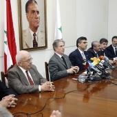 Photo 102 of 152 - Former Pr.Amine Gemayel Heading a Meeting at The Kataeb  (1)