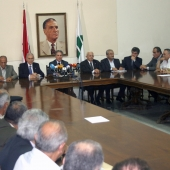 Photo 103 of 152 - Former Pr.Amine Gemayel Heading a Meeting at The Kataeb  (2)