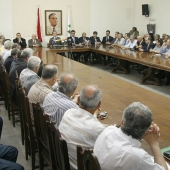 Photo 104 of 152 - Former Pr.Amine Gemayel Heading a Meeting at The Kataeb  (3)