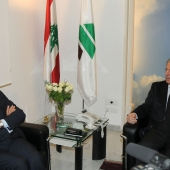 Photo 119 of 152 - Former Pr.Amine Gemayel Meets Italian Ambassador (2)