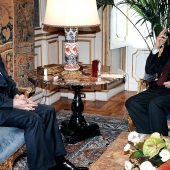 Photo 122 of 152 - Former Pr.Amine Gemayel Meets Italian President Giorgio Napo