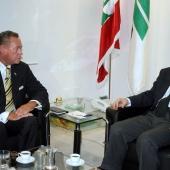 Photo 8 of 152 - Former Pr.Amine Gemayel Meets Sweden Member of Parliament Ni