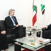 Photo 110 of 152 - Former Pr.Amine Gemayel Meets a Delegation From Internationa