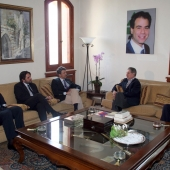 Photo 80 of 152 - Former Pr.Amine Gemayel Meets a Delegation of Monotoring The