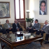 Photo 81 of 152 - Former Pr.Amine Gemayel Meets a Delegation of The Maronite L
