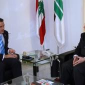 Photo 88 of 152 - Former Pr.Amine Gemayel meets Belgium Ambassador
