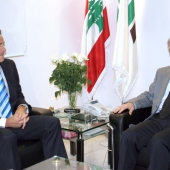 Photo 90 of 152 - Former Pr.Amine Gemayel meets Belguim Ambassador.