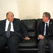 Photo 93 of 152 - Former Pr.Amine Gemayel meets Egyptian Ambassador.