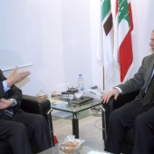 Photo 140 of 152 - Former Pr.Amine Gemayel meets Former MP.Rafic Chahin