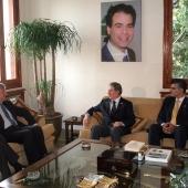 Photo 141 of 152 - Former Pr.Amine Gemayel meets French Ambassador.