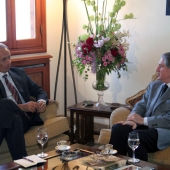 Photo 118 of 152 - Former Pr.Amine Gemayel meets Italian Ambassador