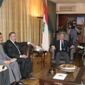 Photo 125 of 152 - Former Pr.Amine Gemayel meets Minister Elie Marouni.1