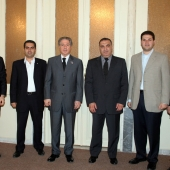 Photo 126 of 152 - Former Pr.Amine Gemayel meets Minister Elie Marouni with a D