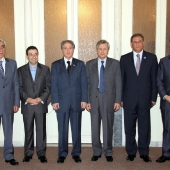 Photo 131 of 152 - Former Pr.Amine Gemayel meets Minister Wael Abou Faour with