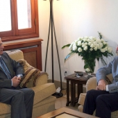 Photo 27 of 152 - Former Pr.Amine Gemayel meets Mr.Abass Zaki.