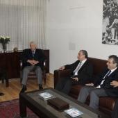 Photo 32 of 152 - Former Pr.Amine Gemayel meets Mr.Elias Abi Assi with a Deleg