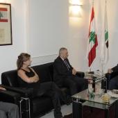 Photo 33 of 152 - Former Pr.Amine Gemayel meets Mr.Elie Mahfouz.