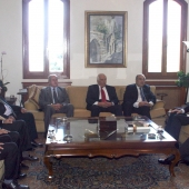 Photo 34 of 152 - Former Pr.Amine Gemayel meets Mr.Fady Abou with a Delegation