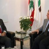Photo 35 of 152 - Former Pr.Amine Gemayel meets Mr.Fouad Makhzoumi.