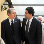 Photo 2 of 152 - Former Pr.Amine Gemayel meets Mr.Oukab Saker.