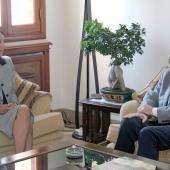 Photo 38 of 152 - Former Pr.Amine Gemayel meets US.Ambassador.