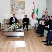 Photo 16 of 152 - Former Pr.Amine Gemayel meets US. Ambassador Jeffrey Fel (1)