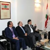 Photo 83 of 152 - Former Pr.Amine Gemayel meets a Palestinian Delegation