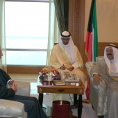 Photo 61 of 152 - Former Pr.Minister Amine Gemayel Meets Koweity Prince Jaber