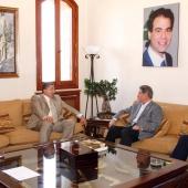Photo 62 of 152 - Former Pr.Minister Amine Gemayel meets Minister Antoine Kara