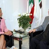 Photo 63 of 152 - Former Pr.Minister Amine Gemayel meets US.Ambassador