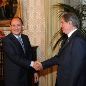 Photo 64 of 152 - Former President Amine Gemayel meets Italian Head of Senat R