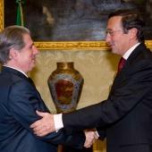 Photo 65 of 152 - Former President Amine Gemayel meets Italian House Speaker G
