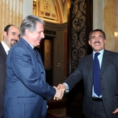 Photo 67 of 152 - Former President Amine Gemayel meets with Italian Minister o