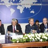 Photo 14 of 18 - Présidents Wilfried Martens Amine Gemayel Ferdinando Casini et SG Antonio Lopez 27012012