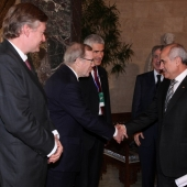 Photo 1 of 18 - Presidents Ferdinando Casini et Wilfried Martens 27012012