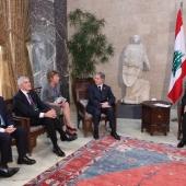 Photo 16 of 18 - Comité IDC chez le Président Michel Sleimane