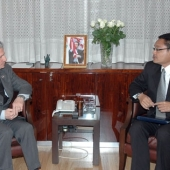 Photo 13 of 25 -  Former President meets Indonesian Ambassador 13022008