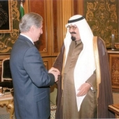Photo 12 of 25 - Former President meets King Abdallah 04032008