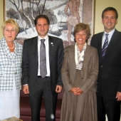 Photo 40 of 152 - MP.Sami Gemayel meets Mrs.Pauline Maro with a Delegation.