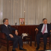 Photo 6 of 25 - Former President meets Ambassador Andre Parant 08022008