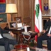 Photo 42 of 152 - Pr.Minister Designated meets MP.Sami Gemayel.