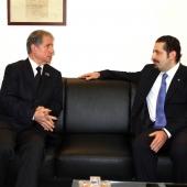 Photo 45 of 152 - Pr.Minister Saad Hariri meets Former Pr.Amine Gemayel.