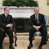 Photo 4 of 56 - Former President meets President georges W Bush 08022007